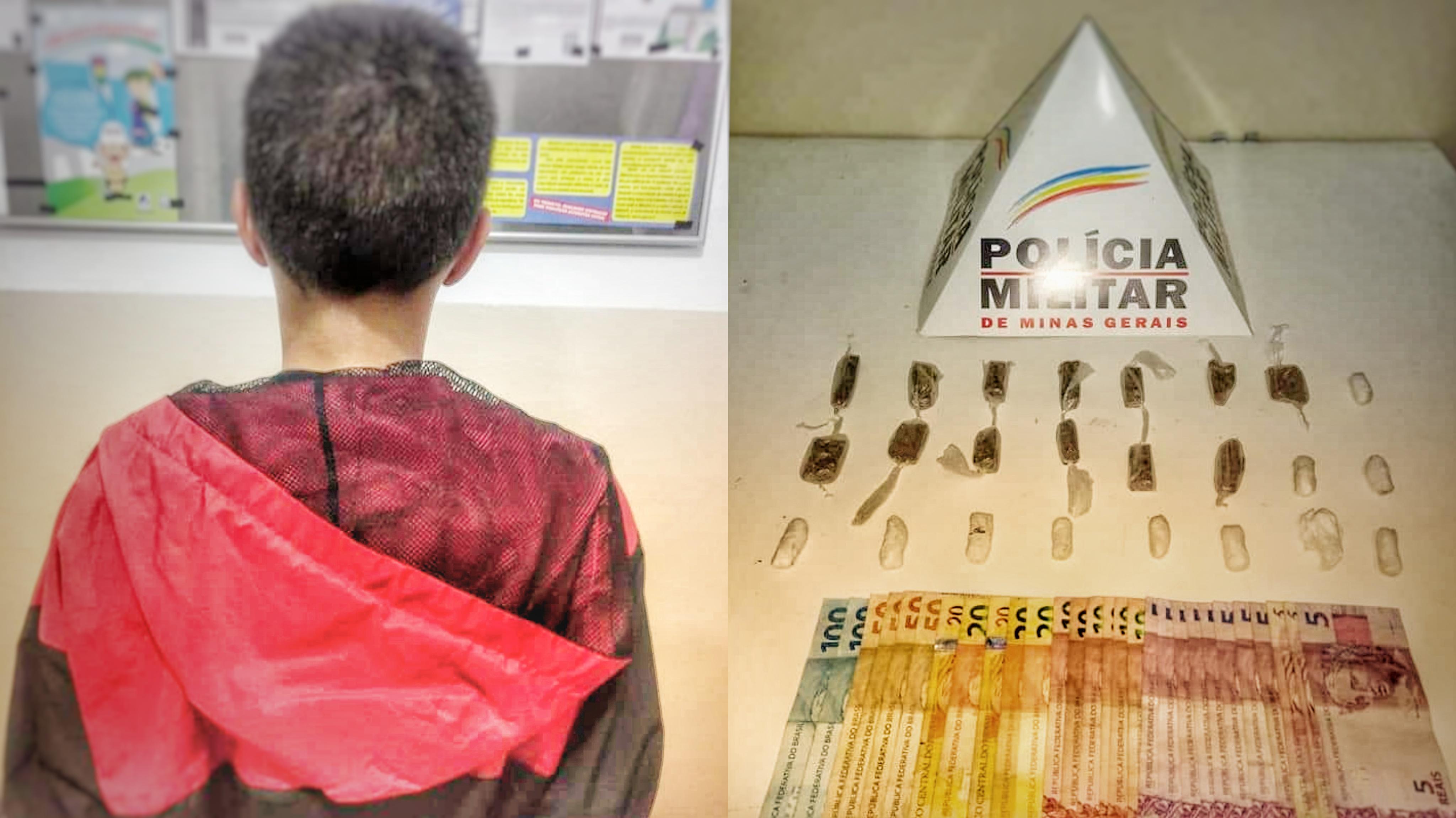 Menino de 13 anos, apreendido por suspeita de tráfico em Pouso Alegre
